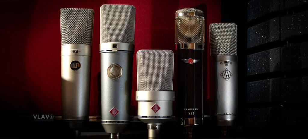 Greek voice over recording microphones. High quality